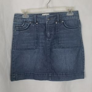 WHBM mini denim jean skirt size 4